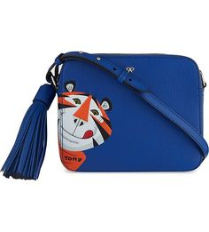 ANYA HINDMARCH Frosties leather crossbody bag (Electric blue