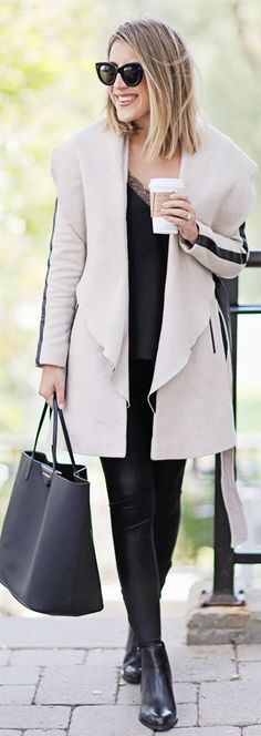 Cozy Wrap Coat / Fashion By Stephanie Sterjovski