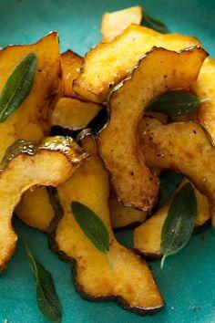Maple Glazed Roasted Acorn Squash recipe