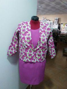 Vestido con chaqueta confeccionado por Luisi Lily Pulitzer, Blouse, Tops, Dresses, Women, Fashion, Jackets, Tejidos, Vestidos