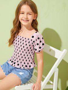Cute Little Girls Outfits, Cute Girl Dresses, Kids Outfits Girls, Little Girl Dresses, Cute Outfits, Girls Sports Clothes, Preteen Girls Fashion, Girls Fashion Clothes, Kids Fashion
