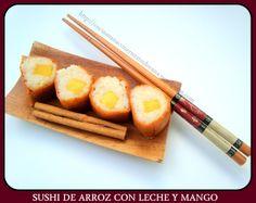 Sushi de arroz con leche
