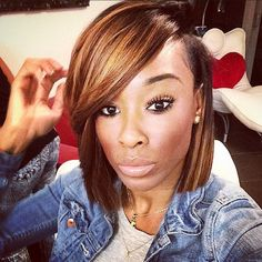 Side Part Bob Lace Front Wigs Beautiful Human Hair Cheap For Black Women Brazilian Human Hair Love Hair, My Hair, Short Hair Cuts, Short Hair Styles, Bob Styles, Bob Lace Front Wigs, Hair Laid, Hair Affair, Relaxed Hair