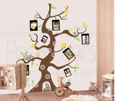 PopDecors - Colorful Photo Tree H) - Removable Vinyl Art Wall Decals Stickers Decal Sticker Mural Playroom Mural, Kids Wall Murals, Vinyl Wall Art, Wall Decals, Photo Tree, Baby Fever, Kids Room, Preschool, New Homes