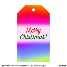 Fun Multicolored Rainbow-Like Pattern Gift Tags created by AponxDesigns. Christmas Gift Tags, Christmas Fun, Rainbow, Pattern, Cards, Rain Bow, Rainbows, Patterns, Maps