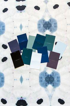 Jenny Komeda little green notebook Galileo Wallpaper is striking AND fun in the powder room Bathroom