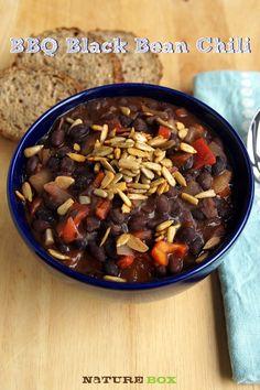 BBQ Black Bean Chili- One Pot Wonder!
