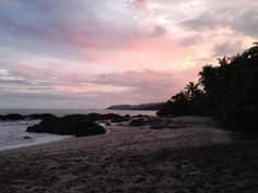 Sunset colors on the Montezuma Beach. Ylang Ylang Beach Resort, Costa Rica