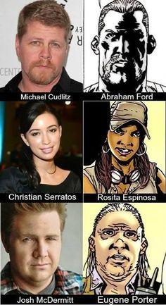 Sgt. Abraham Ford, Rosita Espinosa, Dr Eugene Porter -  Fangirl - The Walking Dead