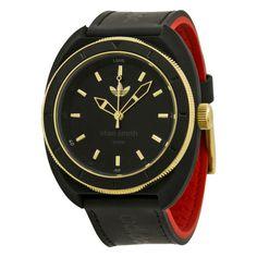 """Adidas Stan Smith Black Dial Black LeatheMens Watch ADH2959<p><table style=""""background-color:#e8eff9;""""><tbody><tr><td>WATCH</td></tr><tr><td>Brand:</td><td>Adidas</td></tr><tr><tr><td>Series:</td><td>Stan Smith </td></tr><td>Model No:</td><td>ADH2959</td></tr><tr><td>Gender:</td><td>Mens </td></tr> <tr><td>Movement:</td><td>Quartz </td></tr> <tr><td>CASE</td></tr><tr><td>Material:</td><td>Black Silicone</td></tr> <tr><td>Diameter: </td><td>42 mm</td></tr><tr><td>Thickness:</td><td>11…"""