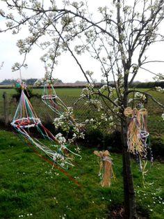 Beltane May Day Celebration Festival Pentacle. Garden / Tree Sabbat Decoration.