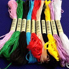 [Visit to Buy] 10 pieces  Similar DMC  cross  threads   / cross stitch embroidery thread / Custom DMC threads  colors #Advertisement