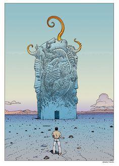 #Moebius (1938- 2012. Jean Henri #Gaston Giraud was a French artist, cartoonist, and writer)