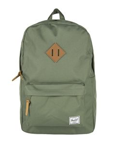 Herschel Heritage Backpack - Deep Litchen Green/Tan Leather - Men | Country Attire