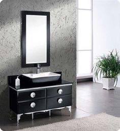 Fresca Moselle 47 in Modern Glass Bathroom Vanity