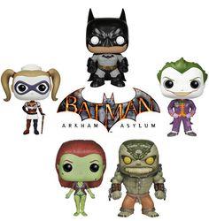 Batman Arkham Asylum Pop Vinyl Figures