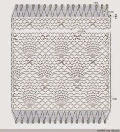 Pineapple scarf (Crochet Knitting Handicraft)