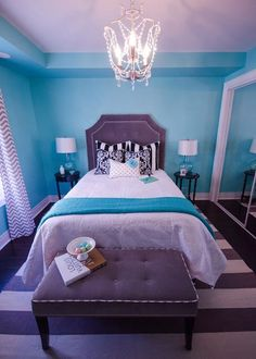 tiffany blue teen sanctuary by wellnested interiors