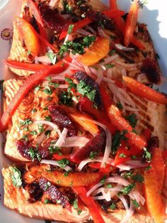 Salmon with an orange salsa - looks good for summer