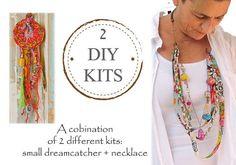 DIY Dream Catcher Kit And DIY Jewelry Kit 2 in 1 Diy Kit Diy