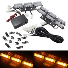 New Styling Replacement  36 LED Flash Car Emergency Light Grille Bar Warning Strobe Lamp DC 12V Amber Free Shipping