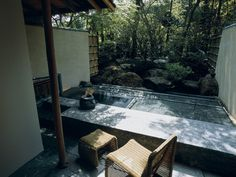 Room with open-air bath