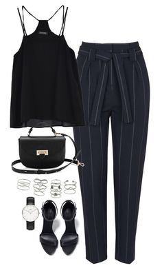 """Sin título #5369"" by marianaxmadriz ❤ liked on Polyvore featuring Topshop, Aspinal of London, Miss Selfridge, Zara and Daniel Wellington"