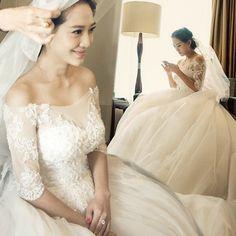 White Lace Wedding Dress Bride Wedding Dress Boat-Neck Wedding Dresses With Sleeves Bridal Gown Vestido De Noiva Com Manga
