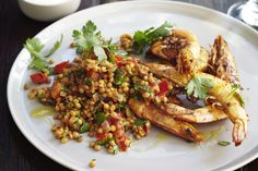 This spicy prawn and lentil salad is an impressive salad for entertaining.
