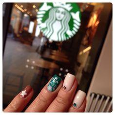 Starbucks Coffee Nail