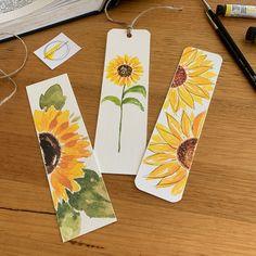 Creative Bookmarks, Cute Bookmarks, Bookmark Craft, Handmade Bookmarks, Paper Bookmarks, Watercolor Bookmarks, Watercolor Cards, Watercolor Paintings, Watercolor Art Diy