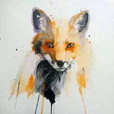 fox watercolor by excentric on DeviantArt