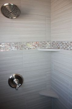Tile design in master bathroom shower Tile design in master bathroom shower Master Bathroom Shower, Tiny House Bathroom, Bathroom Showers, Bling Bathroom, Bathroom Small, Mosaic Bathroom, Accent Tile Bathroom, Modern Bathroom, Glitter Bathroom