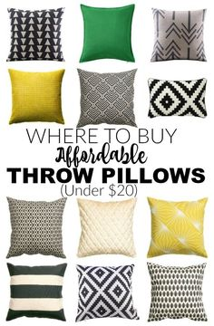This is AWESOME advice! HOW to save MONEY on pillows and WHERE to find beautiful and affordable ones for under $20! - Littlehouseoffour...