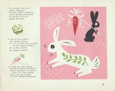 My Vintage Avenue !!! 50's and 60's illustrations !!!: La vie enchantée illustrated by Michel Bouchaud, 1947.