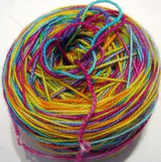 Dye yarn and heat set it in the microwave, Fibermania