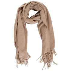 Beige Wool Scarf (115 CAD) ❤ liked on Polyvore featuring accessories, scarves, cachecol, genuine-people, beige, woolen shawl, wool shawl, wool scarves and woolen scarves