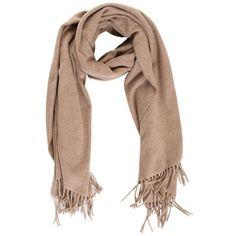 Beige Wool Scarf ($67) ❤ liked on Polyvore featuring accessories, scarves, beige, genuine people, wool scarves, woolen scarves, woolen shawl and wool shawl