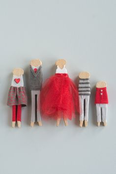 Clothespin Family Portrait • this heart of mine