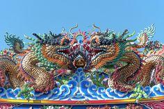 2013 Photograph, San Jao Pung Tao Gong Dragon Roof, Chang Moi, Mueang Chiang Mai, Chiang Mai, Thailand, © 2016. ภาพถ่าย ๒๕๕๖ ศาลเจ้าปุงเก่ากง หลังคามังกร ต.ช้างม่อย อ.เมืองเชียงใหม่ จ.เชียงใหม่ ประเทศไทย