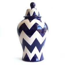 blue and white ginger jar modern style