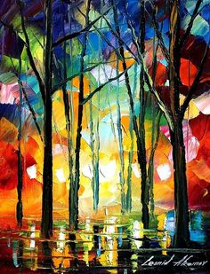 "Leonid Afremov - ""Surreal Forest"""