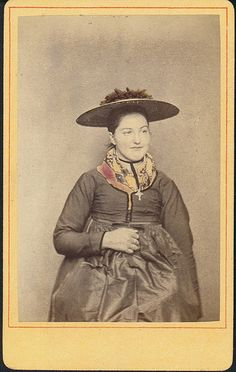 Woman in folk costume from Renchtal in the Black Forest (Germany)