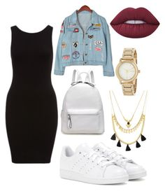 """""""Untitled #2"""" by n-alawadi ❤ liked on Polyvore featuring Chicnova Fashion, adidas, Forever 21, DKNY and Lime Crime"""