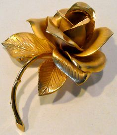 Vintage Giovanni Rose Brooch by AuntEddiesCloset on Etsy, $18.00