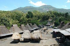 Bena village Bena village on Flores Island - Indonesia as seen from the opposite of village entrance.  by Ng Sebastian www.komodo-tours.travel/