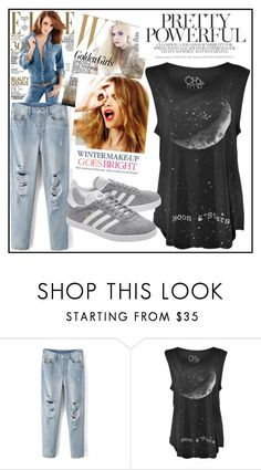 """Top *_*"" by mahira-muminovic ❤ liked on Polyvore featuring Celestine and adidas Originals"