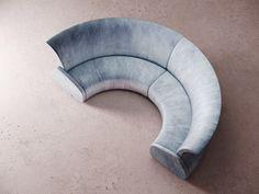 ECLIPSE | Curved sofa By Desforma Sofa Furniture, Furniture Design, Circle Sofa, Amber Room, Christian Liaigre, Round Sofa, Types Of Sofas, Curved Sofa, Fabric Sofa