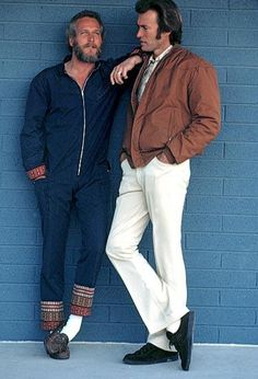 Photo of Paul Newman and Clint Eastwood. for fans of Paul Newman 33034791 Paul Newman, Clint Eastwood, Hollywood Stars, Classic Hollywood, Old Hollywood, Beautiful Men, Beautiful People, Embellished Jumpsuit, Movie Posters