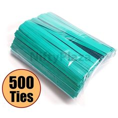 Now Make Your #Life #Easy With Pack of 500 #Green #Twist #Ties - Just at $5.95 with Free #Shipping